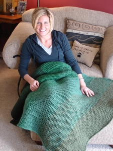 Ombre Alpaca Blanket by Joelle Hoverson