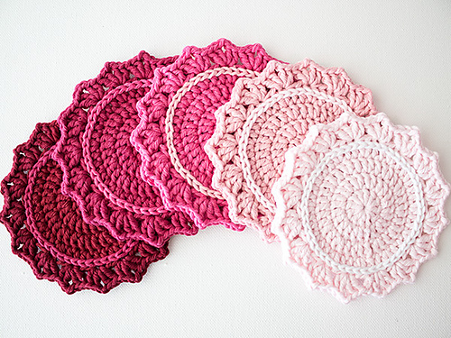 Set of Ombre Coasters by Marinke Slump